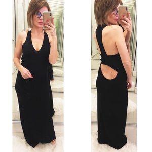 Young Fabulous & Broke Black Maxi Open Back Dress